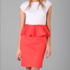 Alice + Olivia Peplum T-shirt Dress